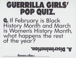 Resume Writing Quiz Guerrilla Girls U0027 Pop Quiz U0027 Guerrilla Girls 1990 Tate