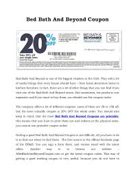 20 Off Coupon Bed Bath And Beyond Bed Bath And Beyond Coupon