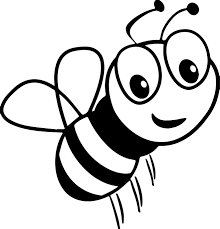 cartoon bee smile coloring page wecoloringpage