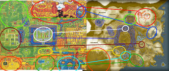 Map Of Hyrule ähnlichkeiten Bei Breath Of The Wild Und A Link To The Past