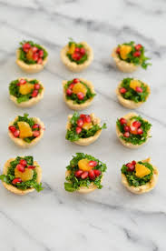 thanksgiving appetizer mini poppy seed pomegranate kale salad appetizer luci u0027s morsels