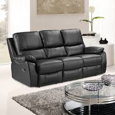 3 Seater Leather Recliner Sofa Fabric Reclining Loveseat Power Reclining Sectional Loveseat