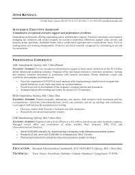 Professional Profile Resume Examples by Successful Executive Assistant Resume Sample With Professional