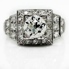 antique diamond step design platinum ring claude morady estate