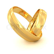 wedding gold rings two golden wedding rings isolated on white background stock