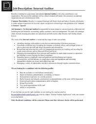 Internal Audit Job Description For Resume by Brioche Ltd Linkedin