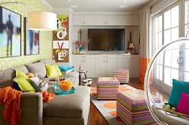 Room Of The Day Family Room Turns Into A Cool Teen Rec Room - Cool family rooms