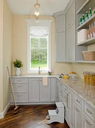 Kitchen Pantry Cabinets Gray Kitchen Pantry Cabinets With Gray Granite Countertops
