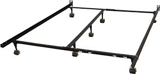 alwyn home heavy duty adjustable metal bed frame with double rail