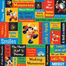 12x12 Scrapbook Mickey Phrases 12x12 Scrapbooking Paper