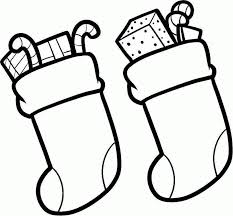 christmas stocking coloring pages children christmas stockings coloring home
