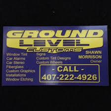 Custom Window Tint Designs Ground Level Customs Car Audio Window Tinting And Alarms Orlando