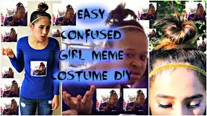 easy last minute diy confused meme halloween costume