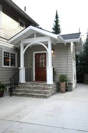Awning For Back Door Back Door Awning Ideas Modest White Entrance Enhanced By Red