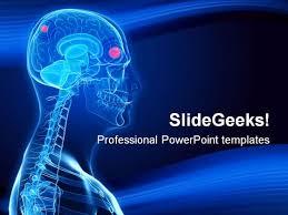 brain tumor science powerpoint template 0610