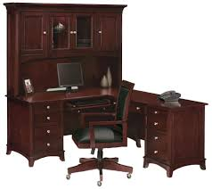 I Shaped Desk by Transform Your Home Office With Built In Cabinets