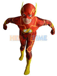 2016 the new 52 flash costume 3d shade spandex fullbody male flash