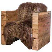 Reclaimed Armchair Sheepskin Lounge Chairs 63 For Sale At 1stdibs