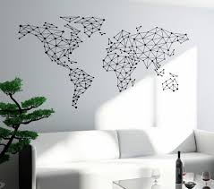 world map with country names contemporary wall decal sticker free shipping wall sticker special world map geometric design