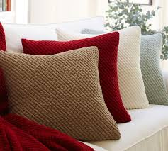 Couch Pillow Slipcovers Grand Chenille Pillow Covers Pottery Barn