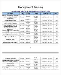 employee training template employee training schedule templates 7