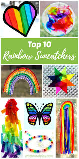 top 10 rainbow suncatchers kids craft ideas rhythms of play