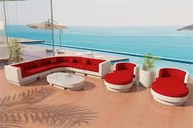 fiber sectional sofa outdoor patio furniture set 10rw