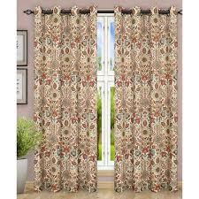 Grommet Curtains Ellis Curtain Adelle Jacobean Top Nature Floral Semi Sheer