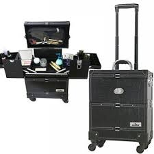 professional makeup trunk portable makeup station artist professional on wheels