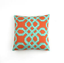 Lilly Pulitzer Rug Lilly Pulitzer Well Connected Aqua Orange Pillow
