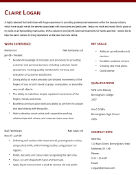 sample job application letter for beautician professional
