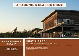 real estate postcard templates canva