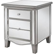 amazon com mirage mirrored accent table kitchen u0026 dining