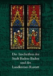 Stadt Baden Baden Buchvorstellung Die Inschriften Der Stadt Baden Baden Und Des