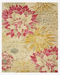 Sunflower Rugs Buy Hand Tufted Wool Ivory Transitional Floral Sunflower Rug Online