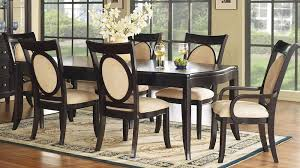 wood dining room set signature 7 piece 72x45 dining room set in