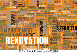 renovating a cer renovation or remodeling your home diy as concept stock
