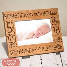 Engravable Baby Gifts Personalized Baby Picture Frame Birth Announcement Baby Gift W