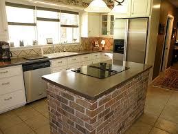 Brick Kitchen Ideas Kitchen Layout Brick Island Kitchen Ideas Pinterest Bricks