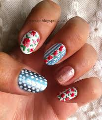 nail arts by rozemist cath kidston vintage inspired floral
