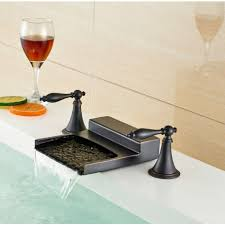 oil rubbed bronze bathroom sink faucet adorable great nantes oil rubbed bronze waterfall dual handle