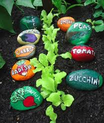 Rock Vegetable Garden Painted Garden Markers For The Vegetable Garden Garden Therapy