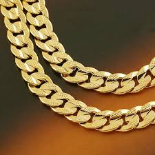 mens solid gold necklace images Gold filled mens necklace images jpg