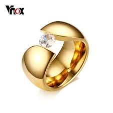 aliexpress buy vnox 2016 new wedding rings for women aliexpress buy vnox luxury solitaire ring for women gold