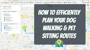 Google Map Directions Driving How To Plan A Route For Your Dog Walking U0026 Pet Sitting Visits