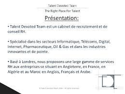 les bureaux de recrutement au maroc cabinet de recrutement et de conseil rh spécialisé ppt
