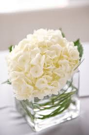 White Roses Centerpieces by Contemporary Arizona Loft Wedding White Hydrangea Centerpieces