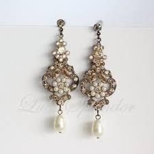 vintage earrings 49 antique chandelier earrings two golden rings antique wedding