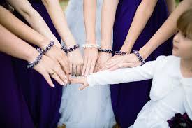 bridesmaids accessories purple bridesmaid jewelry purple pearl cluster bracelet