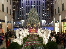 Rockefeller Tree Tree Lighting 2017 Front Center At Rockefeller Center